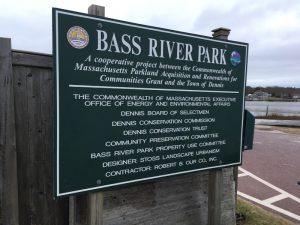 Dennis location, Bass River Park sign
