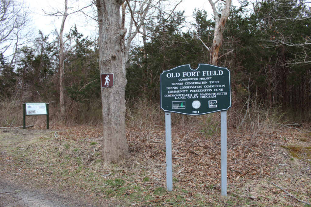 Old Fort Field sign