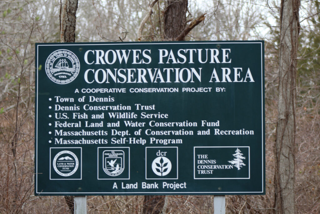 Sign for Crowe's Pasture Conservation Area